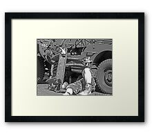 Get out and get under Framed Print