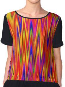 WAVY-1 (Multicolor Bright)-(9000 x 9000 px) Chiffon Top