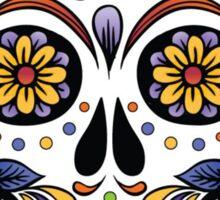 Mexican Sugar Skull Yellow Rose Sticker