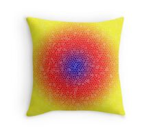 Yellow through the net Throw Pillow