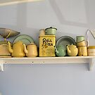 Teapots and Friends on a Shelf by coffeebean