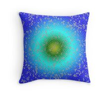 Blue through the net Throw Pillow
