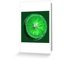 Fantasy Glass Orb in Orange Greeting Card