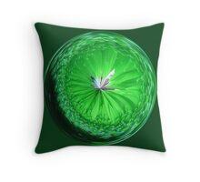 Fantasy Glass Orb in Orange Throw Pillow