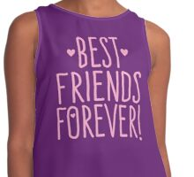 BEST FRIENDS FOREVER in pink Contrast Tank