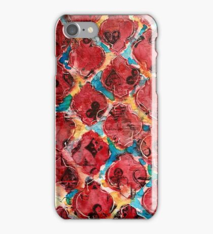 Deck of cards abstract iPhone Case/Skin
