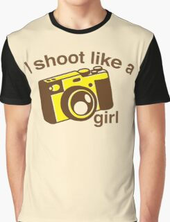 I shoot like a girl (Camera Photographer) Graphic T-Shirt
