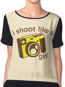 I shoot like a girl (Camera Photographer) Chiffon Top