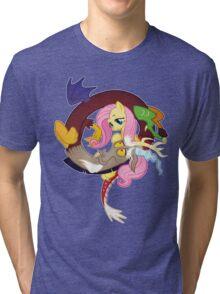 MLP Fluttershy and Discord Tri-blend T-Shirt