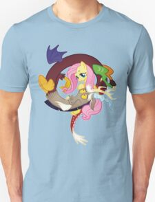 MLP Fluttershy and Discord Unisex T-Shirt