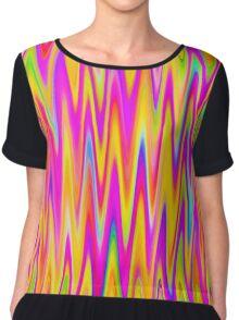 WAVY-1 (Multicolor Light)-(9000 x 9000 px) Chiffon Top