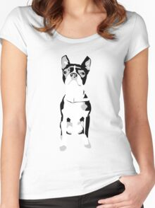 My mates, mates dog... Women's Fitted Scoop T-Shirt