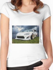 White Toyota GT 86 Women's Fitted Scoop T-Shirt