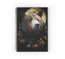Native American Dream  Catcher and Bear Spiral Notebook