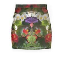 Flowers Reflect Mini Skirt