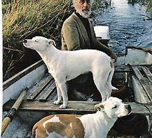 Beard Man Dogs Boat by ogSuede