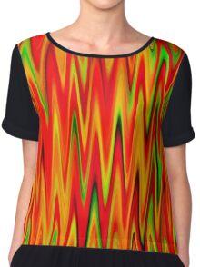 WAVY-1 (Reds, Oranges, Yellows & Greens)-(9000 x 9000 px) Chiffon Top