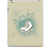 Iсe skating in retro style  iPad Case/Skin