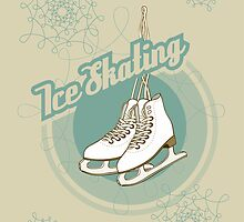 Iсe skating in retro style  by PaulMalyugin