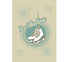 Iсe skating in retro style  Photographic Print