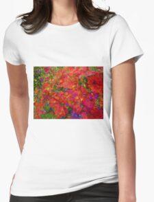Flower blend Womens Fitted T-Shirt