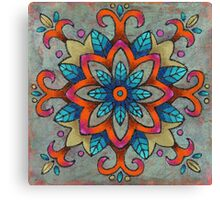 Mandala of the Blue Leaves Canvas Print