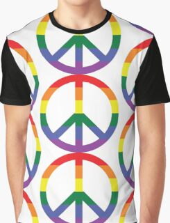 Peace, Love and Pride Graphic T-Shirt