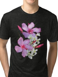 Flowers pink and white Tri-blend T-Shirt