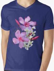 Flowers pink and white Mens V-Neck T-Shirt
