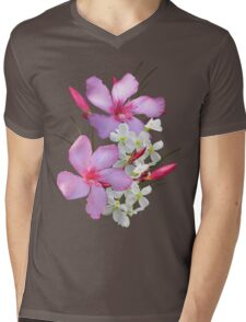 Flowers pink and white Mens V-Neck T-Shirt