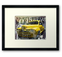 Hot Rodding and the Time Travel Paradox Framed Print