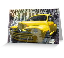 Hot Rodding and the Time Travel Paradox Greeting Card