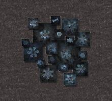 Snowflake collage - Dark crystals 2012-2014 Unisex T-Shirt