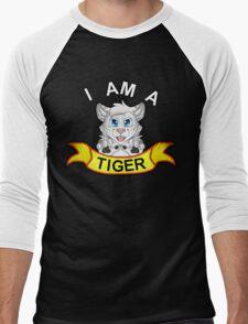 I Am A White Tiger! Men's Baseball ¾ T-Shirt