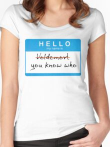 Hello my name is Voldemort Women's Fitted Scoop T-Shirt