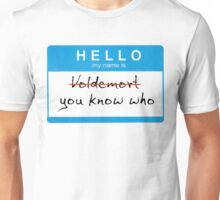 Hello my name is Voldemort Unisex T-Shirt