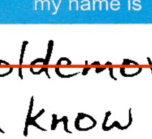 Hello my name is Voldemort Sticker