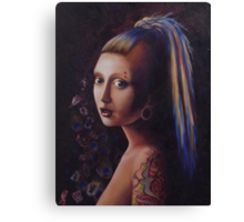 Girl with a Gauge Canvas Print