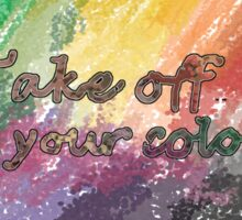 You Me At Six Take Off Your Colours Sticker