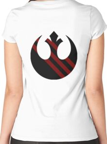 Rebel Alliance Emblem Women's Fitted Scoop T-Shirt