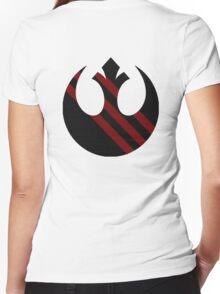Rebel Alliance Emblem Women's Fitted V-Neck T-Shirt