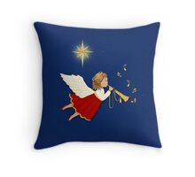 Christmas Trumpet Angel Throw Pillow