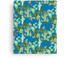 Cactus in Blue Canvas Print