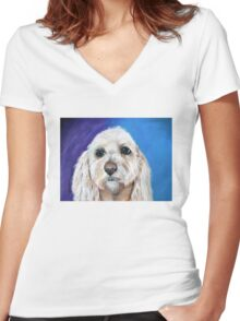 """""""Chewbacca"""" the best fishing buddy.  Women's Fitted V-Neck T-Shirt"""