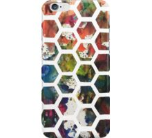 Hexagonal Ink (Vertical) iPhone Case/Skin