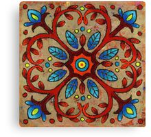 Mandala of the Red Vines Canvas Print