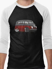 VW T1 Microbus cartoon black/red Men's Baseball ¾ T-Shirt