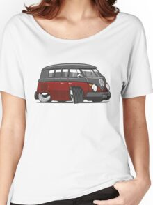 VW T1 Microbus cartoon black/red Women's Relaxed Fit T-Shirt
