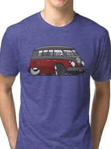 VW T1 Microbus cartoon black/red Tri-blend T-Shirt