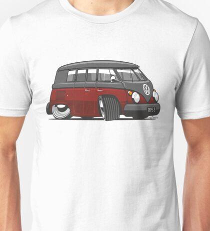 VW T1 Microbus cartoon black/red Unisex T-Shirt